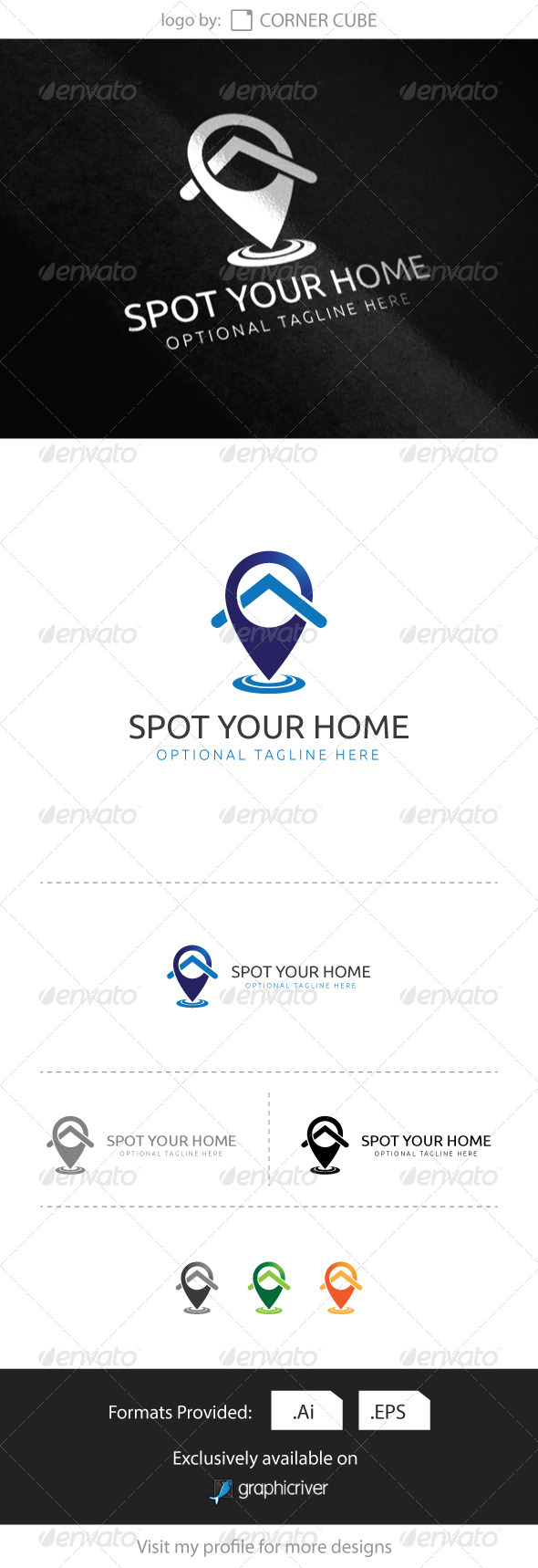 GraphicRiver Spot Your Home logo 8284848