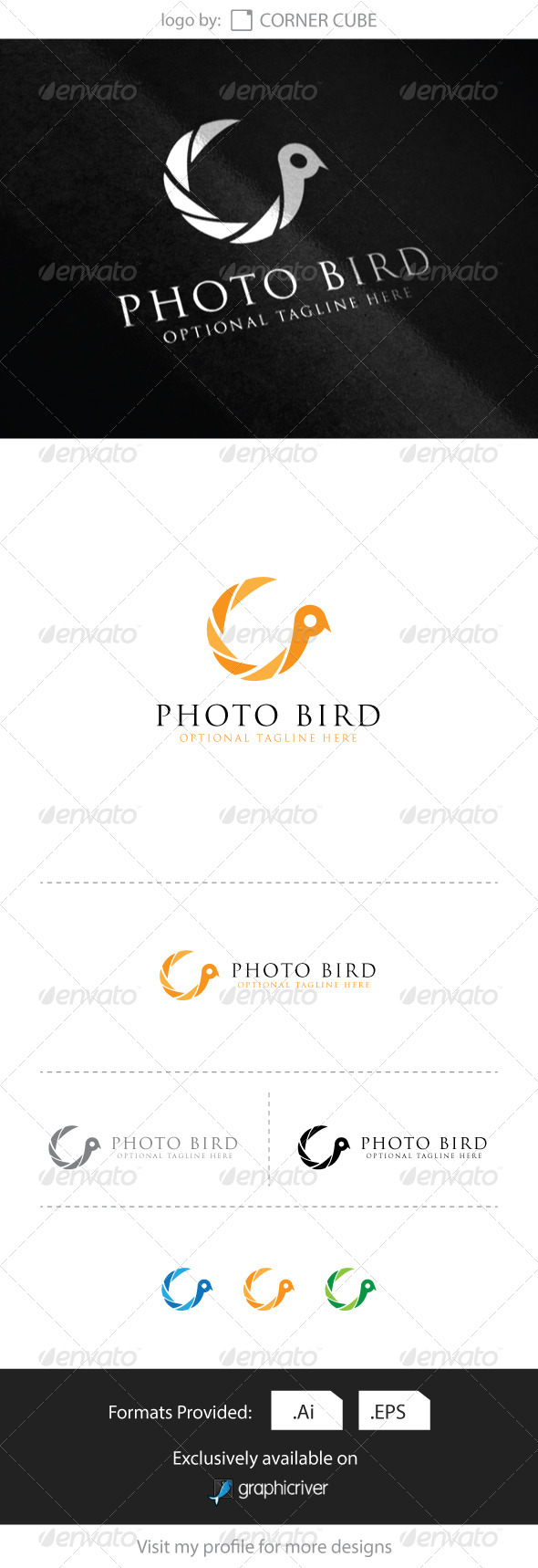 GraphicRiver Photo Bird Logo 8284858