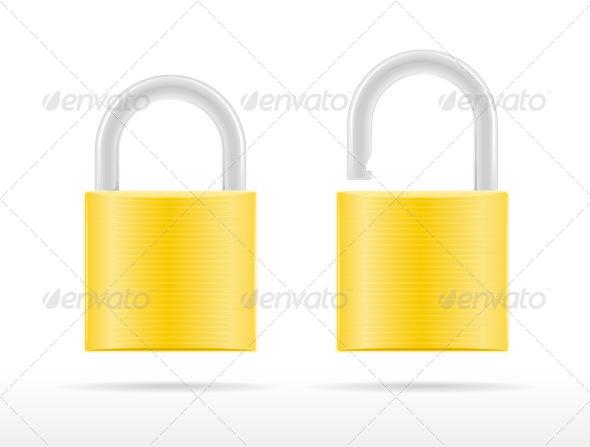 GraphicRiver Golden Padlocks 8284904