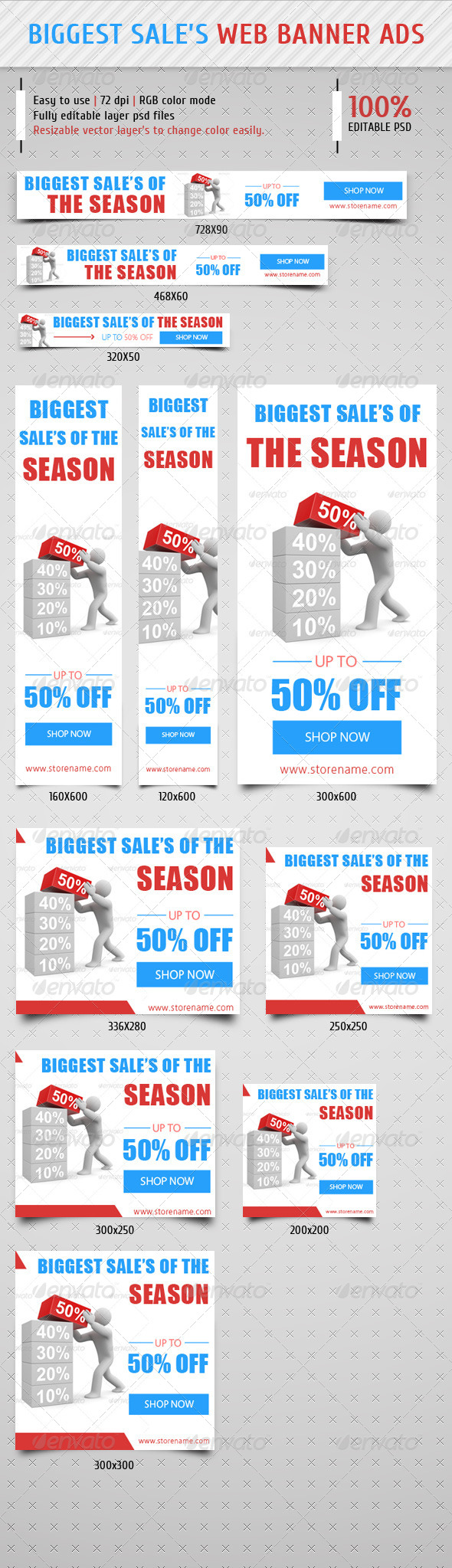 GraphicRiver Biggest Sale Web Banner Ads 8284942