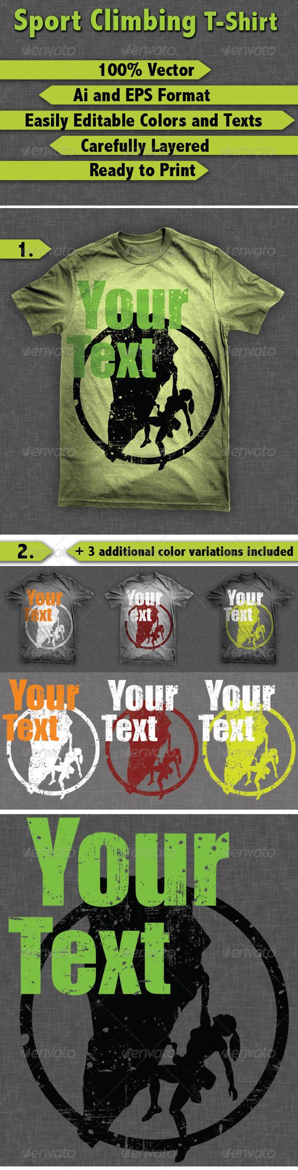 GraphicRiver Sport Climbing T-Shirt 8205239