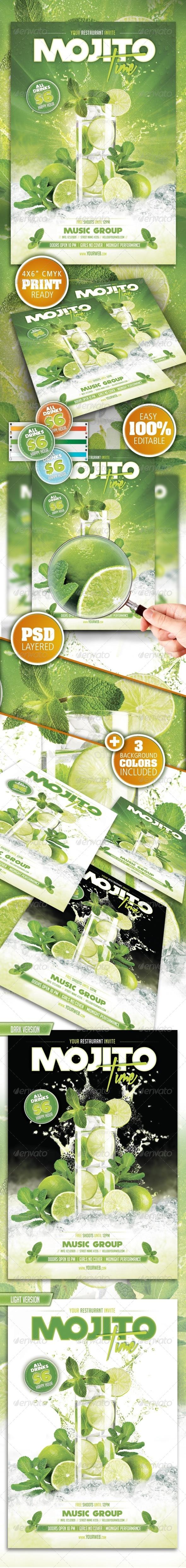 GraphicRiver Mojito Time Flyer 8285039