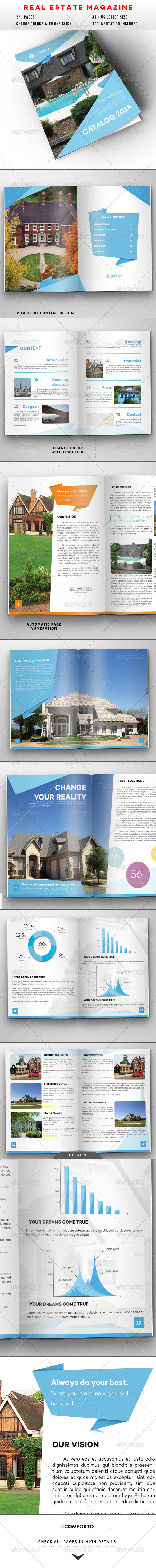 GraphicRiver Origami Real Estate And Travel Magazine 8285178