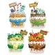Seasons Cupcakes on a White Background - GraphicRiver Item for Sale