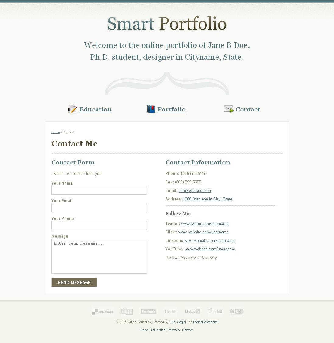 Clean Portfolio Site