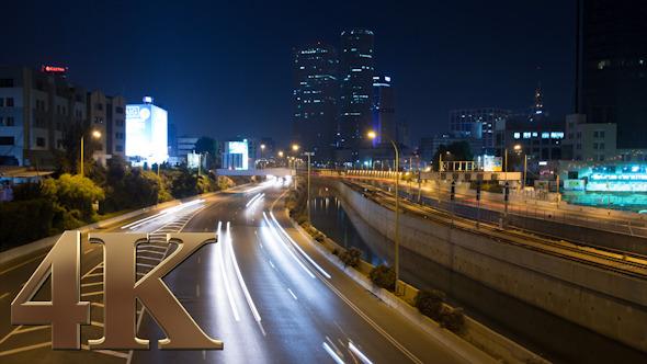 Highway Traffic Rush Night