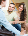 Loving couple with real estate agent - PhotoDune Item for Sale