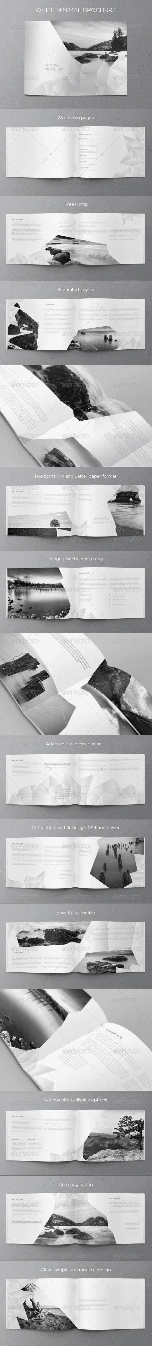 GraphicRiver White Minimal Brochure 8285896