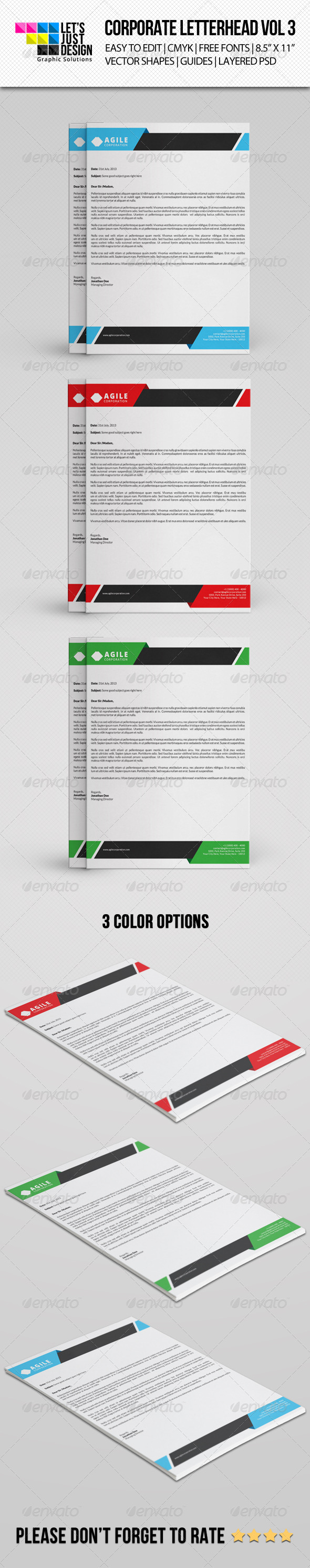 GraphicRiver Corporate Letterhead Vol 3 8285924