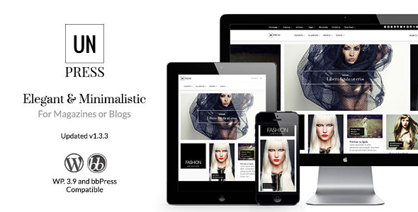 unPress Magazine - Elegant & Minimalistic - News / Editorial Blog / Magazine
