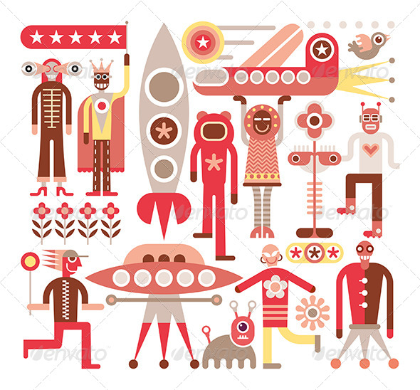 GraphicRiver Humans and Aliens 8286012