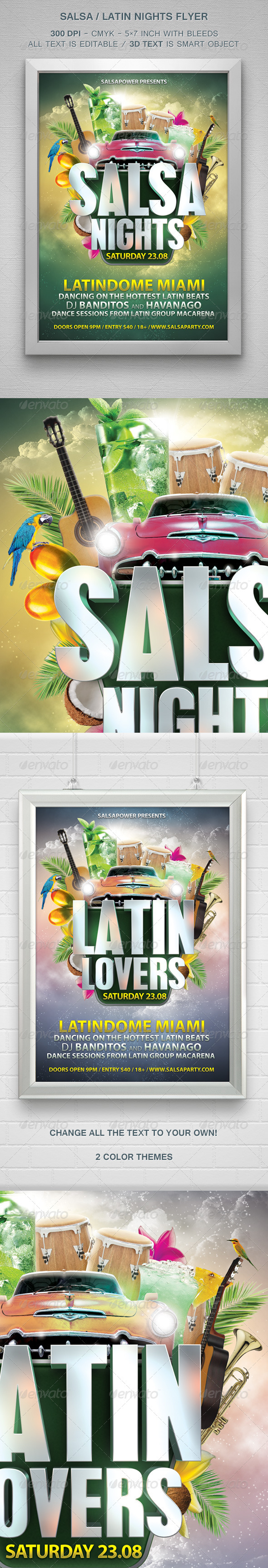 GraphicRiver Salsa Latin Nights Flyer 8286083