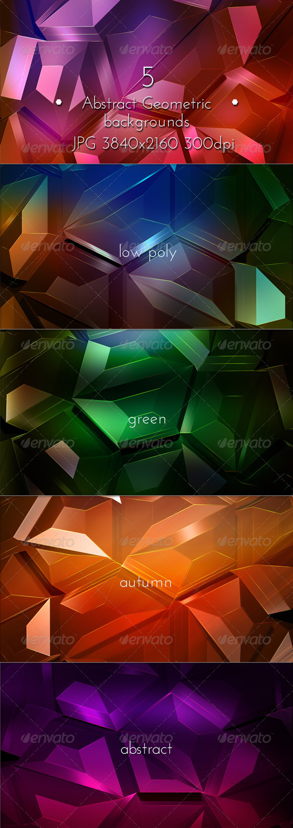 GraphicRiver Geometric Abstract Low Poly 8286087