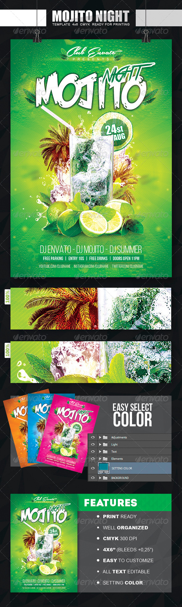 GraphicRiver Mojito Night Flyer 8286183