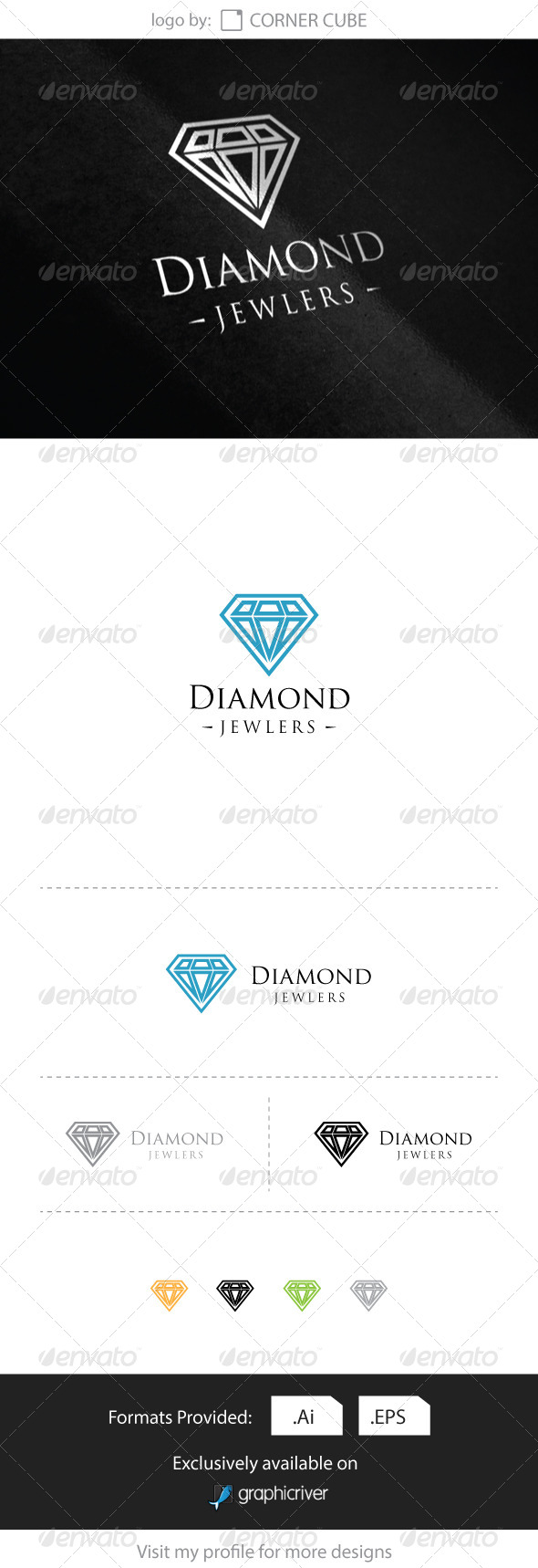 GraphicRiver Diamond Jewelers Logo 8286284