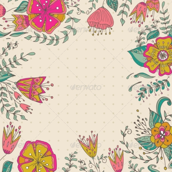GraphicRiver Floral Background 8286293