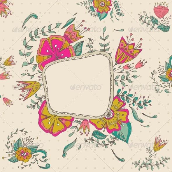 GraphicRiver Floral Frame 8286318