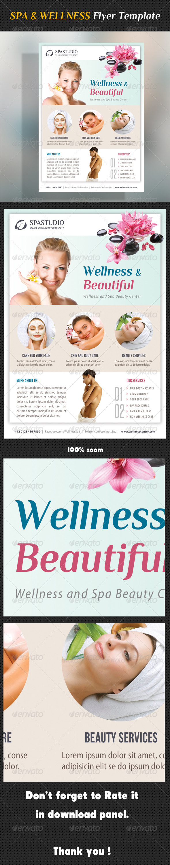Spa Studio Flyer 28 - Corporate Flyers