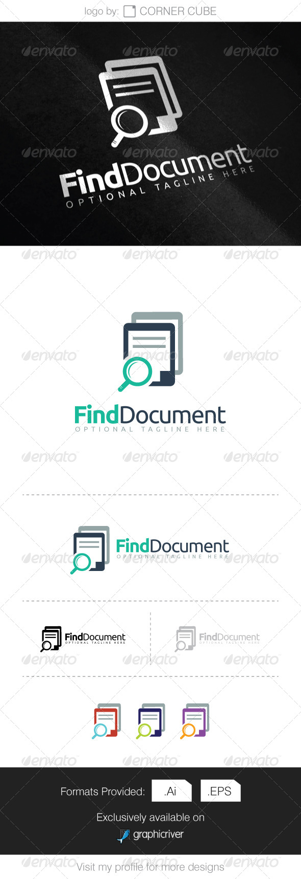 GraphicRiver Find Document Logo 8286350