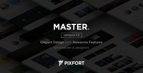 """""""MASTER"""" is a Multipurpose Corporate PSD Template, Minimum Adobe CS Version CS6, layered very well, contains 15 PSD files, based on 960 grid. Templ"""