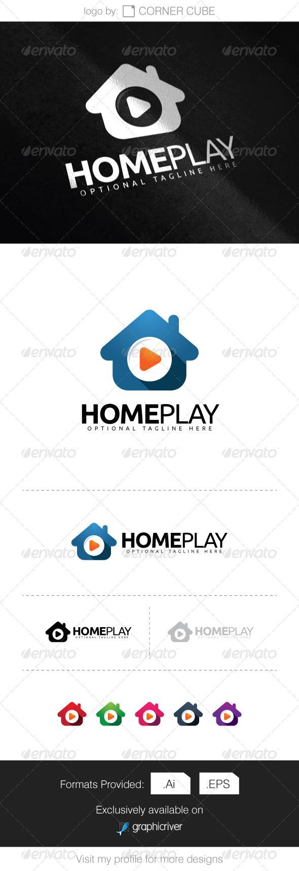 GraphicRiver Home Play Logo 8286413