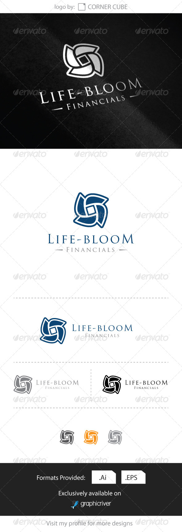 GraphicRiver Life-bloom Financial Logo 8286424