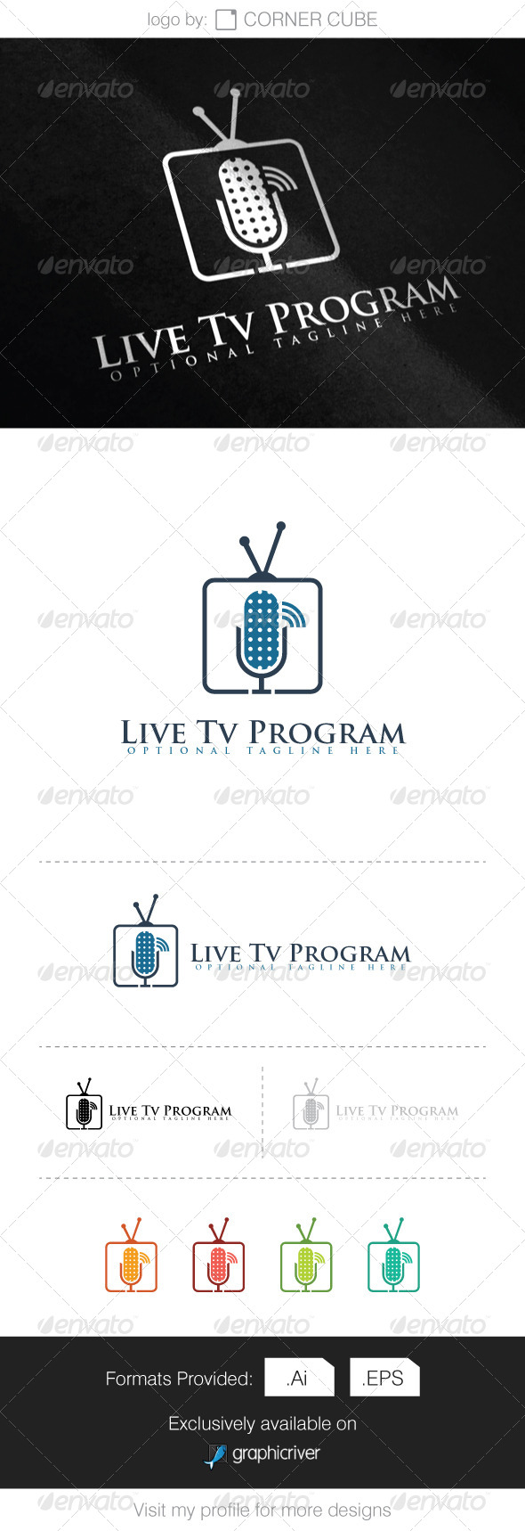 GraphicRiver Live Tv Program Logo 8286438
