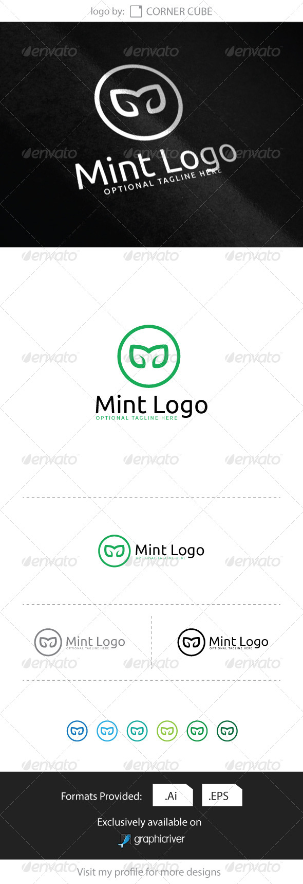 GraphicRiver Mint Logo 8286454