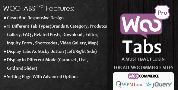CodeCanyon Woocommerce Tabs Pro Extra Tabs for Product Page 8218941