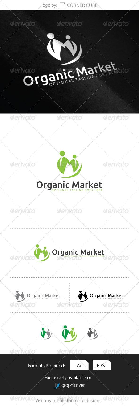 GraphicRiver Organic Market Logo 8286508