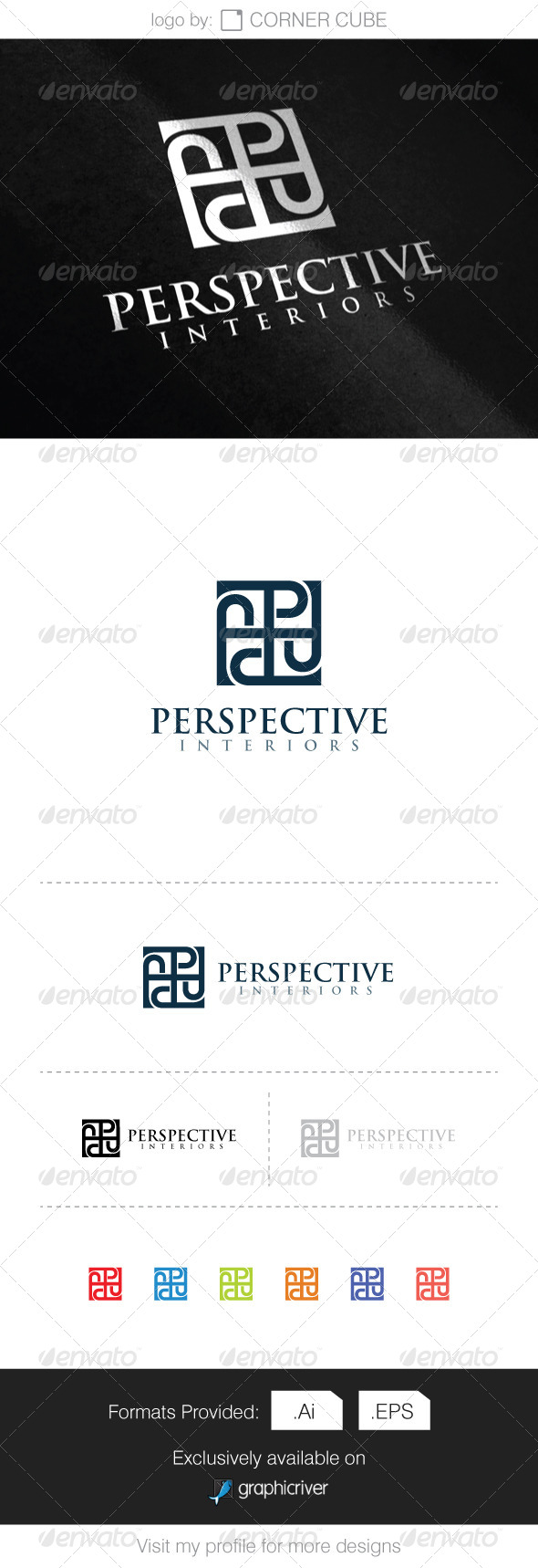 GraphicRiver Perspective Interiors Logo 8286513