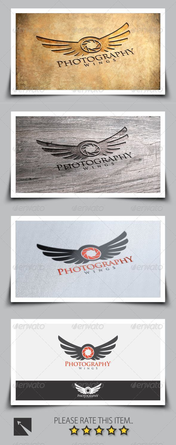 GraphicRiver Photography Wings Logo 8287509