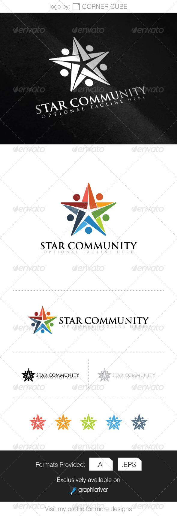 GraphicRiver Star Community Logo 8291989