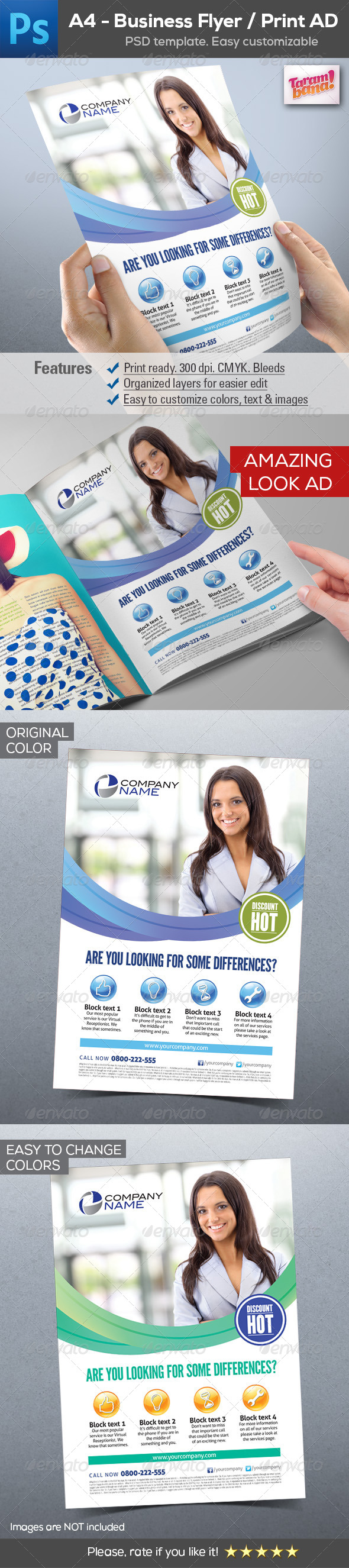 GraphicRiver A4 Business Flyer Print AD 8292108