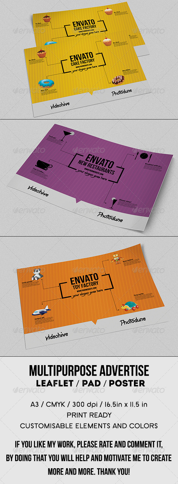 GraphicRiver Multipurpose Advertise Leaflet or Pad 8292127