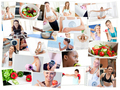 Collage of photos illustrating healthy lifestyles