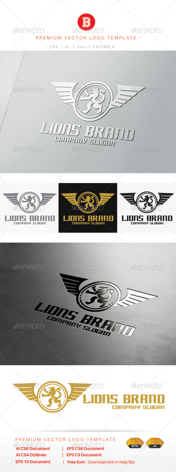 GraphicRiver Lion Brand 8292346