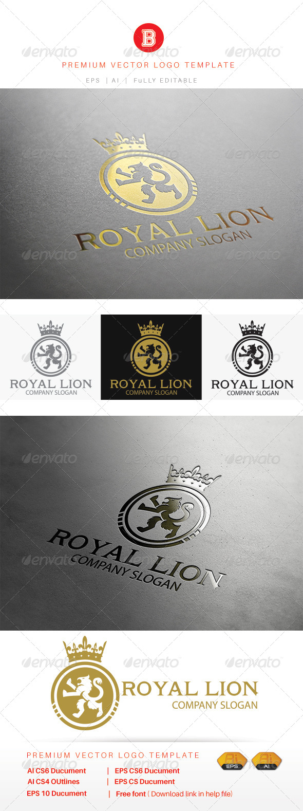 GraphicRiver Royal Lion 8292348