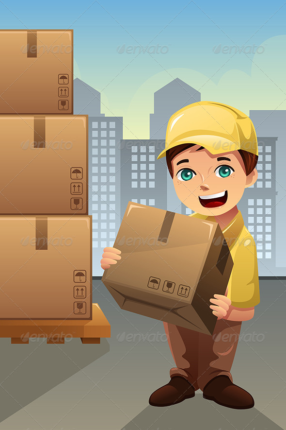 GraphicRiver Delivery Man in the City 8292455