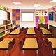 Empty Classroom for Elementary School - GraphicRiver Item for Sale