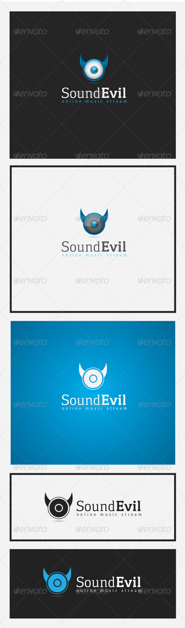 Sound Evil Logo - Vector Abstract