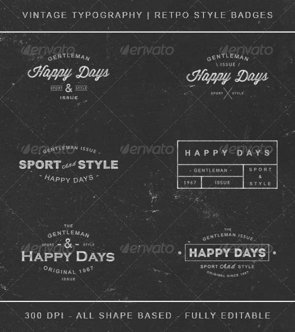 GraphicRiver Retro Vintage Insignias Badges Typography 8266769