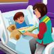 Volunteer at the Children Hospital - GraphicRiver Item for Sale
