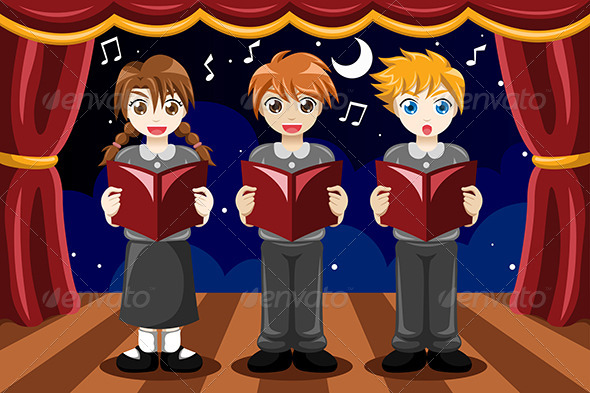 GraphicRiver Children Singing in a Choir 8292609