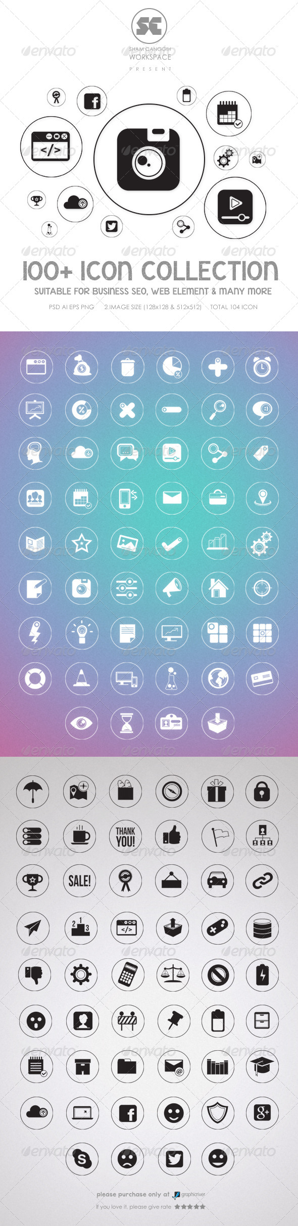 GraphicRiver Flat Icons 8292611