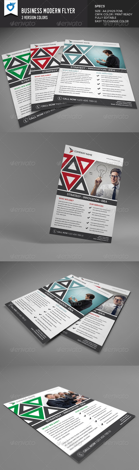 GraphicRiver Business Modern Flyer 8292619