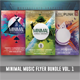Minimal Music Flyer Bundle Vol. 1 - GraphicRiver Item for Sale