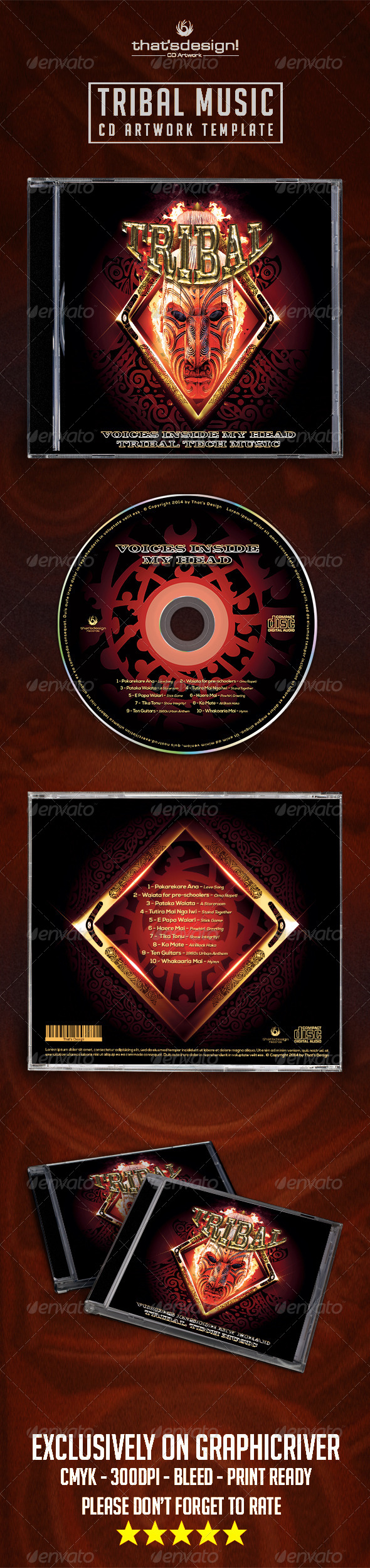 GraphicRiver Tribal Music CD Artwork Template 8262962