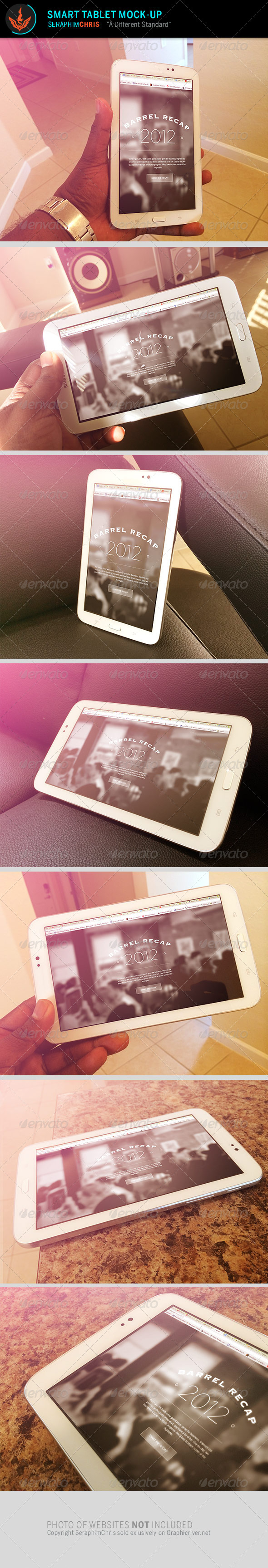 Smart Tablet Mock Up Template