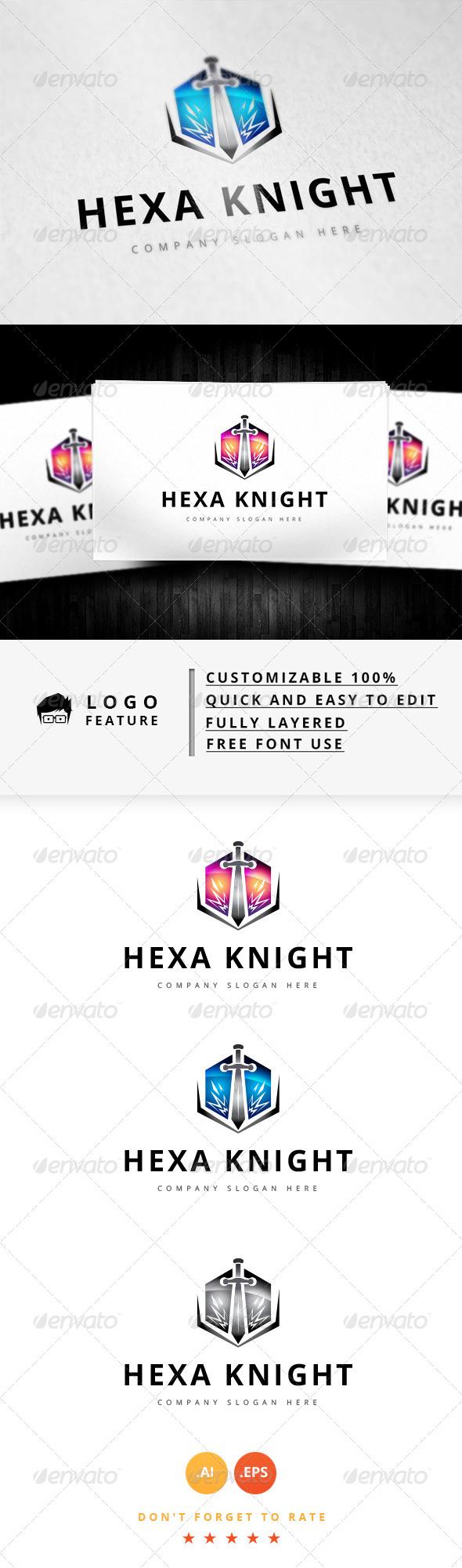 GraphicRiver Hexa Knight Logo 8292696